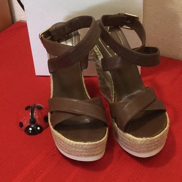 4e409dd66 Yves Saint Laurent Shoes | Ysl Saint Malo Leather Twine Wedge ...